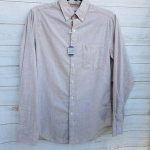 NEW men's J Crew shirt XS heathered beige 36